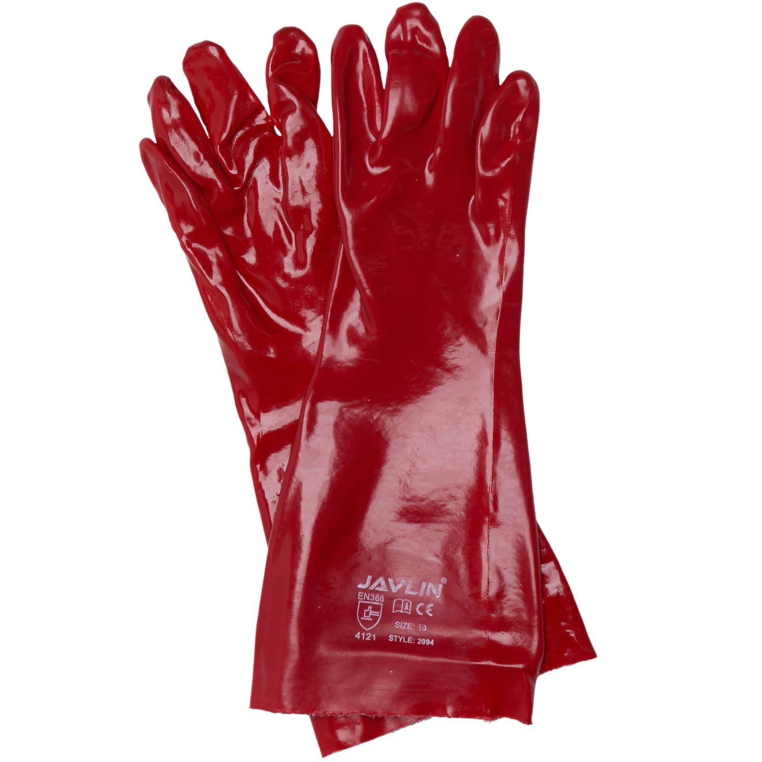 PVC Gloves Wet look gloves clubwear Lace middle Size M